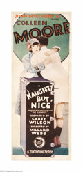 "Movie Posters:Comedy, Naughty But Nice (First National, 1927). Insert (14"" X 36""). Colleen Moore was Hollywood's top box-office draw by the time s..."
