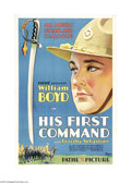 "Movie Posters:Western, His First Command (Pathe', 1929). One Sheet (27"" X 41""). WilliamBoyd stars in this pre-Hopalong Cassidy role as a pampered ..."