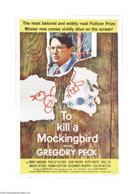 "To Kill a Mockingbird (Universal, 1963). One Sheet (27"" X 41""). Harper Lee's Depression-era story about prejud..."