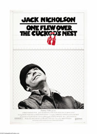 "One Flew Over the Cuckoo's Nest (United Artists, 1975). Poster (40"" X 60""). Ken Kesey's story is masterfully b..."
