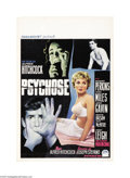"Movie Posters:Hitchcock, Psycho (Paramount, 1960). Belgian Poster (14"" X 21""). Hitchcock'sforay into psychological obsession was a core theme throug..."