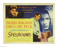 """Spellbound (United Artists, 1945). Title Card and Lobby Cards (3) (11"""" X 14""""). Gregory Peck stars in a Hitchco..."""