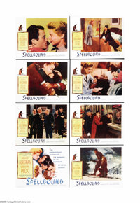 """Spellbound (United Artists, R-1956). Lobby Card Set of 8 (11"""" X 14""""). Mix Alfred Hitchcock, David O. Selznick..."""