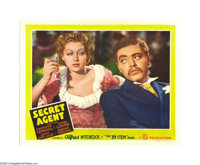 "Secret Agent (Gaumont, 1936). Lobby Card (11"" X 14""). Peter Lorre, one of Hitchcock's favorite actors and the..."