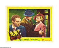 "Secret Agent (Gaumont, 1936). Lobby Card (11"" X 14""). John Gielgud stars as a British soldier who finds himsel..."