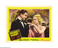 "Secret Agent (Gaumont, 1936). Lobby Card (11"" X 14""). Madeleine Carroll and Robert Young are pictured in this..."