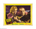 "Movie Posters:Hitchcock, Secret Agent (Gaumont, 1936). Lobby Card (11"" X 14""). This portraitcard pictures Ms. Carroll and the immortal Sir John Giel..."