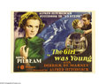 "Movie Posters:Thriller, The Girl Was Young (Gaumont, 1938). Title Lobby Card and Scene Card(1)(11"" X 14""). One of Alfred Hitchcock's more indicativ... (2items)"