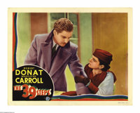 "The 39 Steps (Gaumont, 1935). Lobby Card (11"" X 14""). Robert Donat is caught in the middle of a murder investi..."