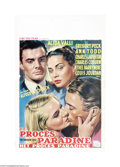 "Movie Posters:Drama, The Paradine Case (Selznick, 1947). Belgian Poster (14.5"" X 22""). Alfred Hitchcock applied his directorial skills to this co..."