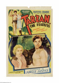 "Movie Posters:Action, Tarzan the Fearless (Principal Distributing, 1933). One Sheet (27""X 41""). Producer Sol Lesser signed a young Olympic swimme..."