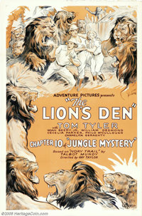 "Jungle Mystery (Universal, 1932). One Sheets (2) (27"" X 41""). Tom Tyler was a popular action star of the '30s..."