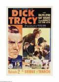 "Movie Posters:Mystery, Dick Tracy (Republic, 1937). One Sheet (27"" X 41""). RepublicStudios produced some of the best serials during the genre's he..."