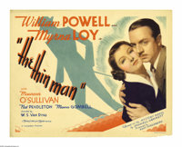 "The Thin Man (MGM, 1934). Title Lobby Card (11"" X 14""). Director Woody Van Dyke shot this film in two weeks an..."