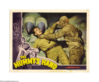 """The Mummy's Hand (Universal, 1940) Lobby Card (11"""" X 14""""). Tom Tyler traded in his cowboy hat and boots for th..."""