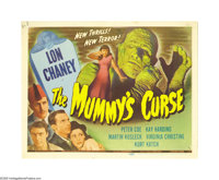 "The Mummy's Curse (Universal, 1944). Title and Lobby Cards (2) (11"" X 14""). This, the fifth in the Universal h..."