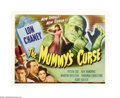 "Movie Posters:Horror, The Mummy's Curse (Universal, 1944). Half Sheet (22"" X 28""). LonChaney, Jr. returns as the rampaging wrap from the past in ..."