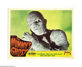 "Movie Posters:Horror, The Mummy's Ghost (Realart, R-1951). Lobby Card (11"" X 14""). Kharis(Lon Chaney, Jr.) travels to America where he finds the ..."
