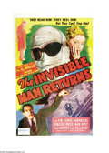 """Movie Posters:Horror, The Invisible Man Returns (Realart, R-1948). One Sheet (27"""" X 41"""").Vincent Price, framed for the murder of his brother, is ..."""