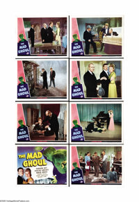 """The Mad Ghoul (Universal, 1943). Lobby Card Set of 8 (11"""" X 14""""). The scream queen of '40s Universal horror pi..."""