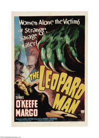"""The Leopard Man (RKO, 1943). One Sheet (27"""" X 41""""). Producer Val Lewton is a well-known entity in the horror g..."""