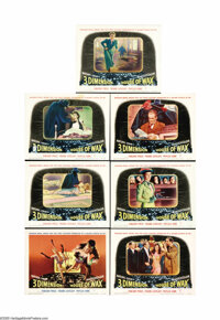 "House of Wax (Warner Brothers, 1953). Partial Lobby Card Set 7 of 8 (11"" X 14""). Warner Brother's Studio score..."