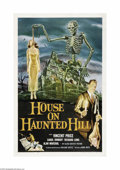 """Movie Posters:Horror, House on Haunted Hill (Allied Artists, 1959). One Sheet (27"""" X 41""""). This film was accompanied by one of those special gimmi..."""
