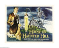 "Movie Posters:Horror, House on Haunted Hill (Allied Artists, 1959). Half Sheet (22"" X28""). Made by William Castle for a shoestring budget, this l..."