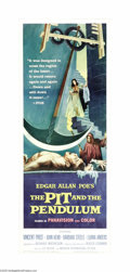 "Movie Posters:Horror, The Pit and the Pendulum (American International, 1961). Insert(14"" X 36""). The Corman/Poe/Price team was at it again, this..."