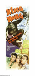 "Movie Posters:Horror, King Kong (RKO, R-1942). Insert (14"" X 36""). King Kong wreaks havoc on New York City as he looks for his lady love, Fay Wray..."