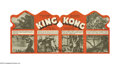 """Movie Posters:Horror, King Kong (RKO, 1933). Herald (4"""" X 7""""). In his classic pose, King Kong appears atop the Empire State Building holding Fay W..."""