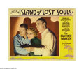 "Movie Posters:Horror, Island of Lost Souls (Paramount, 1933). Lobby Card (11"" X 14"").This trio portrait of Arthur Hohl, Leila Hyams and Richard A..."
