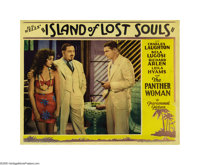 "Island of Lost Souls (Paramount, 1933). Lobby Card (11"" X 14""). Dr. Moreau (Charles Laughton) presents his cre..."