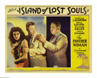 "Island of Lost Souls (Paramount, 1933). Lobby Card (11"" X 14""). Charles Laughton's disturbing role as the mad..."