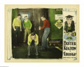 "Movie Posters:Comedy, College (United Artists, 1927). Lobby Card (11"" X 14""). Ronald(Buster Keaton) braces for yet another blow to his ego just t..."