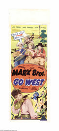 """Movie Posters:Comedy, Go West (MGM, 1940). Australian Daybill (14.5"""" X 40""""). Groucho Marxperformed solo for the first time in one of the opening ..."""
