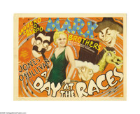 """A Day At The Races (MGM, 1937). Title Lobby Card (11"""" X 14""""). The Marx Brothers are back in this equestrian co..."""