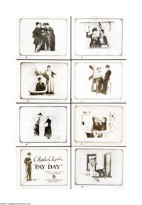"Pay Day (First National, 1922). Lobby Card Set of 8 (11"" X 14""). Comedian Charlie Chaplin plays an under-payed..."