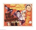 "Movie Posters:Comedy, Air Raid Wardens (MGM, 1943). Half Sheet (22"" X 28""). Laurel andHardy get turned down when they try to enlist, so they do t..."