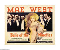 "Movie Posters:Comedy, Belle of the Nineties (Paramount, 1934). Half Sheet (22"" X 28"").Mae West's first film after the implementation of the produ..."