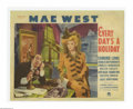 """Movie Posters:Comedy, Everyday's a Holiday (Paramount, 1937). Lobby Cards (2) (11"""" X 14""""). Mae West herself is credited with the screenplay for th... (2 items)"""