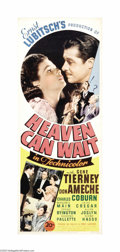 """Movie Posters:Comedy, Heaven Can Wait (20th Century Fox, 1943). Insert (14"""" X 36""""). This excellent comedy/fantasy stars Don Ameche as Henry Van Cl..."""