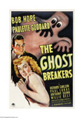 "Movie Posters:Comedy, The Ghost Breakers (Paramount, 1940). One Sheet (27"" X 41""). Afterthe success of ""The Cat and the Canary,"" Paramount teamed..."