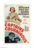 "Movie Posters:Adventure, Captains Courageous (MGM, 1937). One Sheet (27"" X 41""). This film,based on Rudyard Kipling's classic novel, stars Spencer T..."