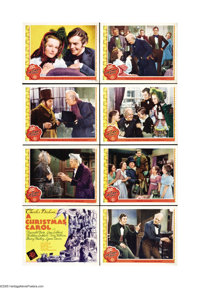 """A Christmas Carol (MGM, 1938) Lobby Card Set of 8 (11"""" X 14""""). MGM's early version of this story is one of the..."""