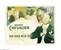 """One Hour with You (Paramount, 1932). Half Sheet (22"""" X 28""""). This musical stars Maurice Chevalier as a Parisia..."""