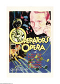 "Movie Posters:Short Subject, Operator's Opera (Warner Brothers, 1932). One Sheet (27"" X 41"").This colorful one sheet is from Vitaphone's ""Broadway Brevi..."