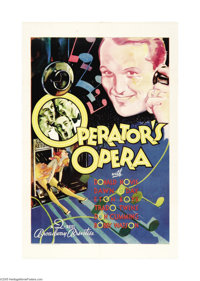 """Operator's Opera (Warner Brothers, 1932). One Sheet (27"""" X 41""""). This colorful one sheet is from Vitaphone's &..."""