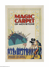 "Magic Carpet of Movietone (Fox, 1930s). One Sheet (27"" X 41""). This colorful poster is a stock one sheet for F..."