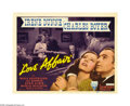 "Movie Posters:Drama, Love Affair (RKO, 1939). Title Card and Lobby Card (11"" X 14""). LeoMcCarey could turn an otherwise average melodrama into a... (2items)"